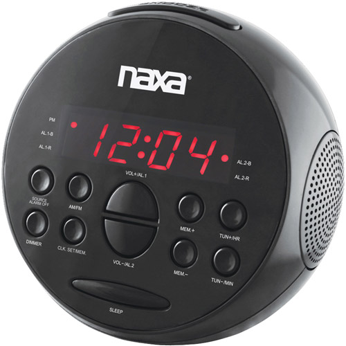 Naxa NRC172 Digital Alarm Clock with AM/FM Radio