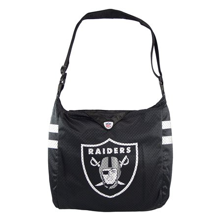 Nfl Team Fabric - NFL Oakland Raiders Team Jersey Tote Bag Cross Fabric Bag Teal Black
