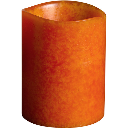 "Westinghouse 3.1"" x 4"" Mottled 3-LED Scented Wax Candle, Orange"