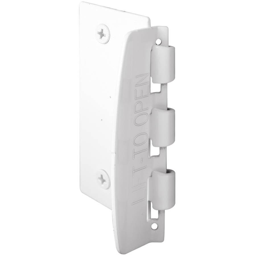 "Prime Line U9888 2-3 4"" White Steel Flip Action Door Lock by Prime Line"