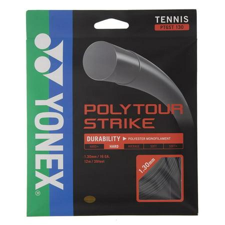 Poly Tour Strike Tennis String Black
