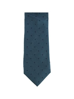 Calvin Klein Mens Subtle Dot Self-tied Necktie, Blue, One Size