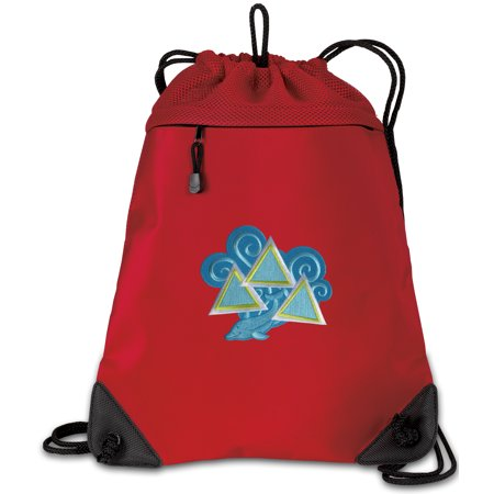 Tri Delt Cinch Pack Backpack for Girls or Boys OFFICIAL Tri Delt Sorority Drawstring Bag Mesh & Microfiber - Cinch Backpack