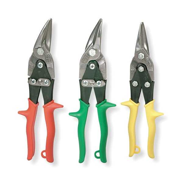 "Aviation Snip Set,  9-3/4"",  18 Mild,  Number of Pieces: 3"