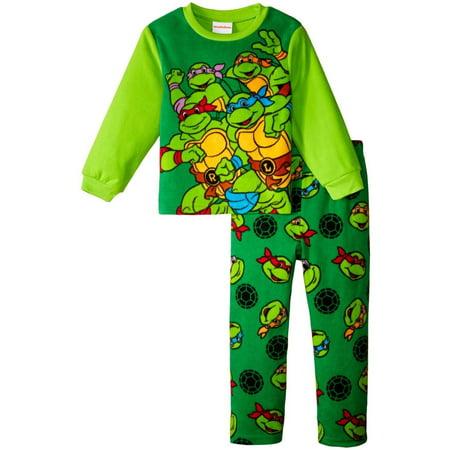 Nickelodeon Tmnt 2 Piece Fleece Set (Toddler), Multicolor, Size: 4T Toddler (Teenage Mutant Ninja Turtles Toddler Clothes)