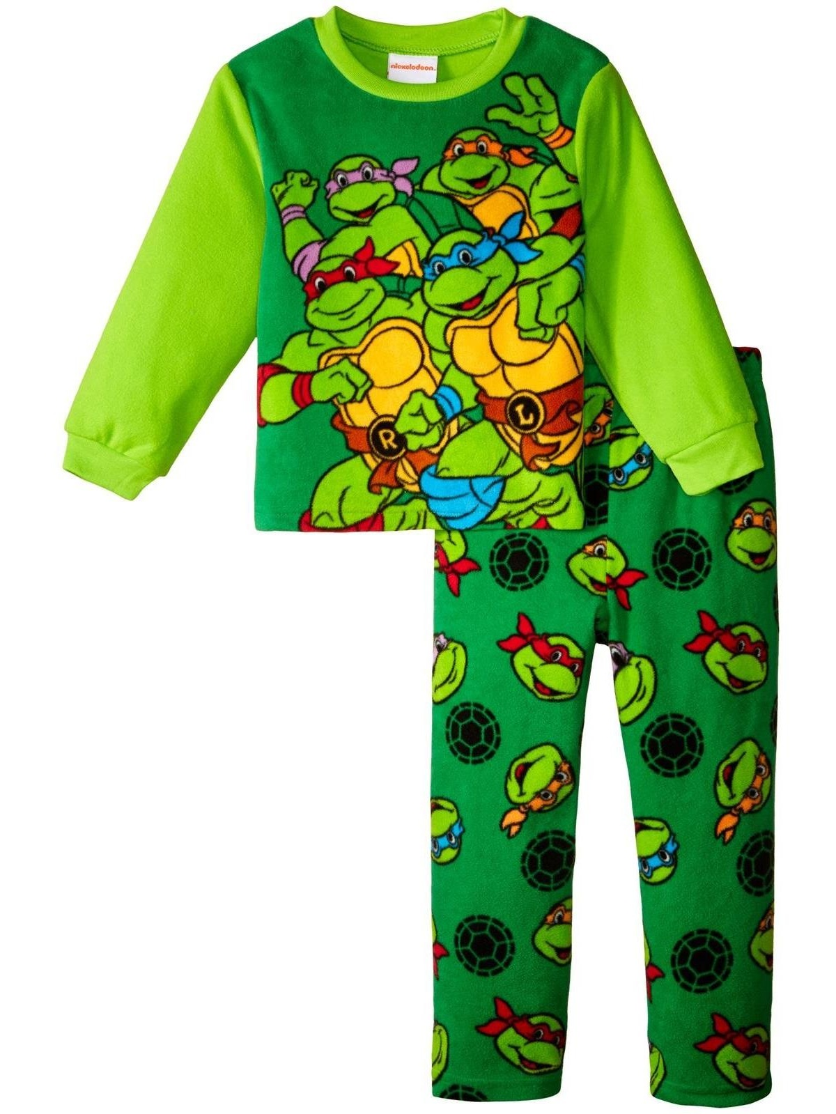 Nickelodeon Tmnt 2 Piece Fleece Set (Toddler), Multicolor, Size: 4T Toddler
