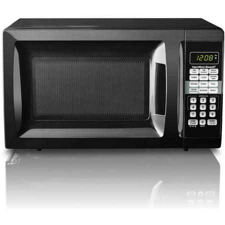 Hamilton Beach 0 7 Cu Ft Microwave Oven Black Walmart Com