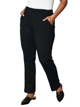 4f9b6718dbe Product Image Roaman s Plus Size Soft Knit Straight-leg Pants