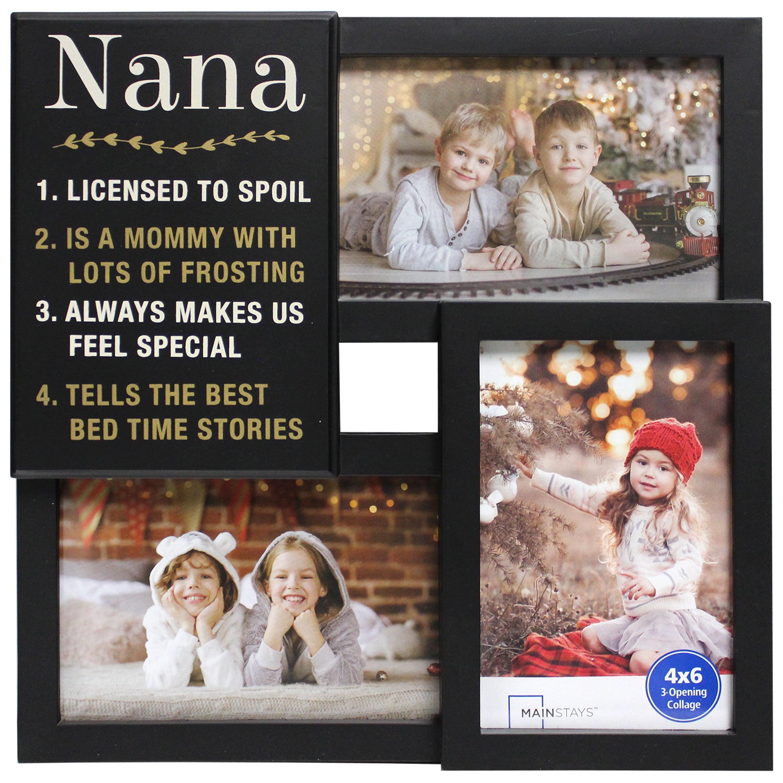 mainstays 3 op sentiment black frame nana walmartcom - Nana Frame