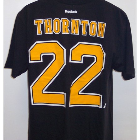fb8f718597f Boston Bruins #22 Shawn Thornton Black Name & Number Tee Shirt ...