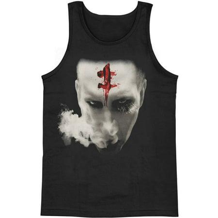Marilyn Manson Men's  Bloody Mark Mens Tank Black - Marilyn Manson Halloween Mix