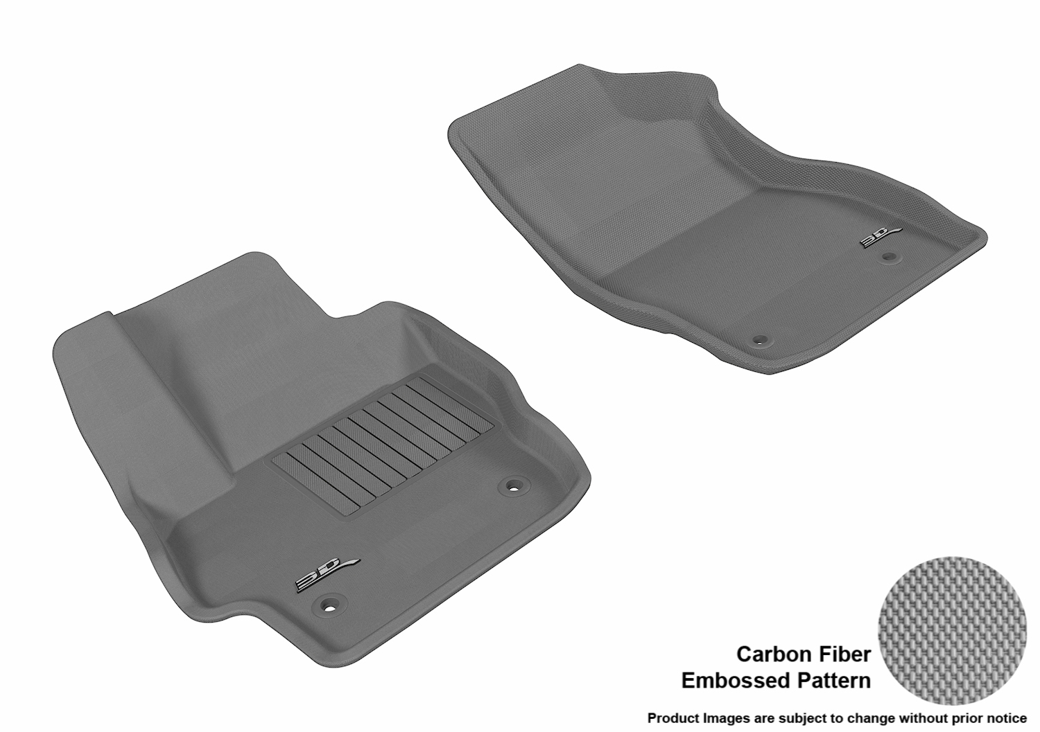 3d maxpider 2010 2013 mazda mazda3 front row all weather floor liners in gray with carbon fiber. Black Bedroom Furniture Sets. Home Design Ideas