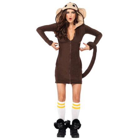 Leg Avenue Women's Cozy Monkey Costume, Brown, Small (Monkey Costume Girl)