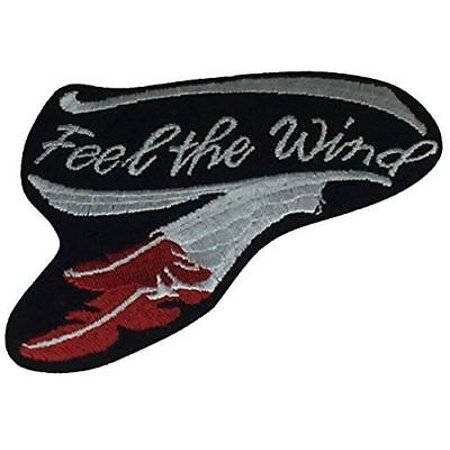 FEEL THE WIND BIKER PATCH FTW FEATHER MOTORCYCLE MC ROAD TRIP (Best Motorcycle For Long Road Trips)