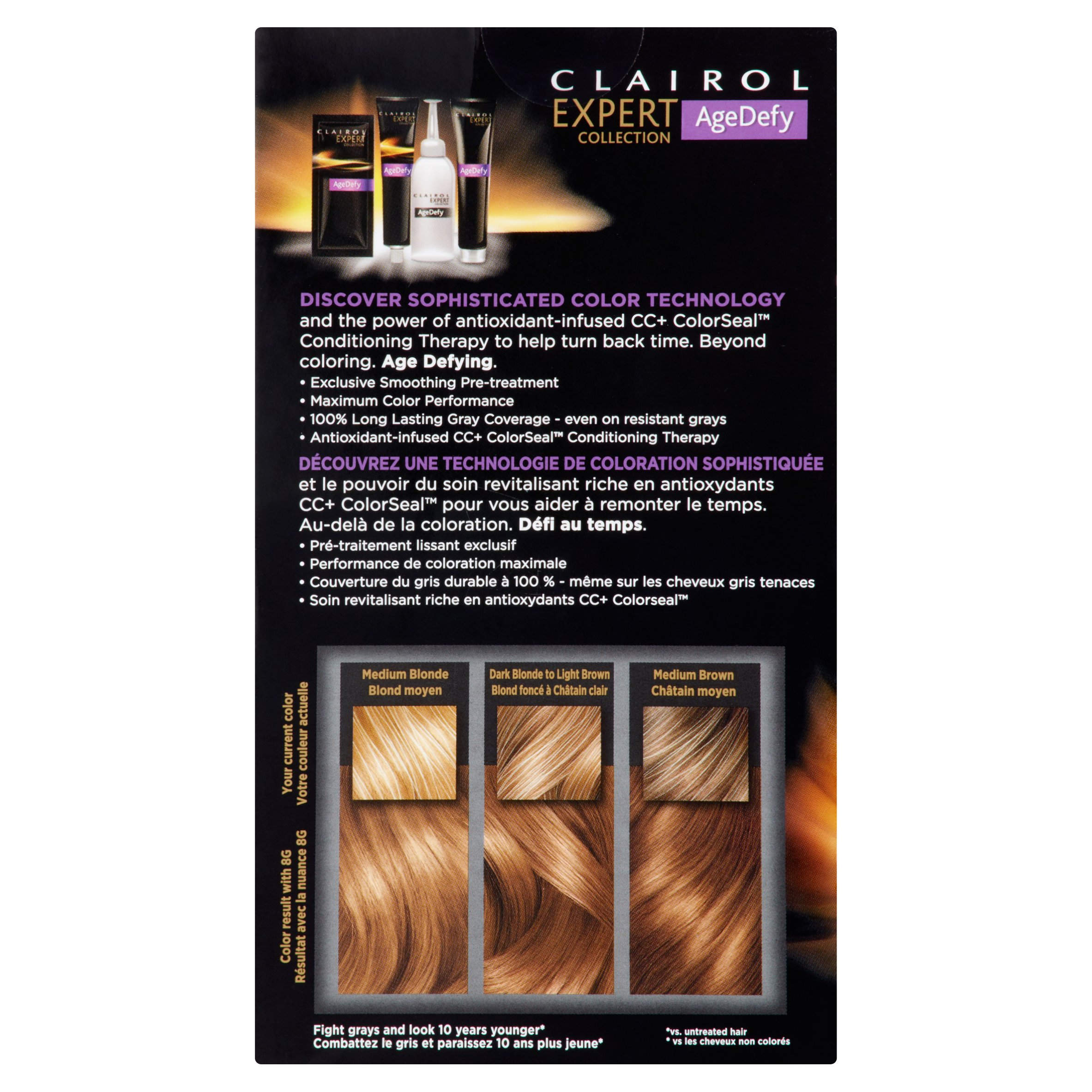 Clairol Expert Collection Age Defy Hair Color 8g Medium Golden Blonde