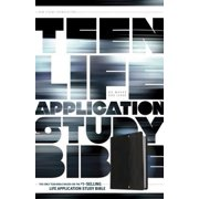 Teen Life Application Study Bible: New Living Translation Black Pocket LeatherLike