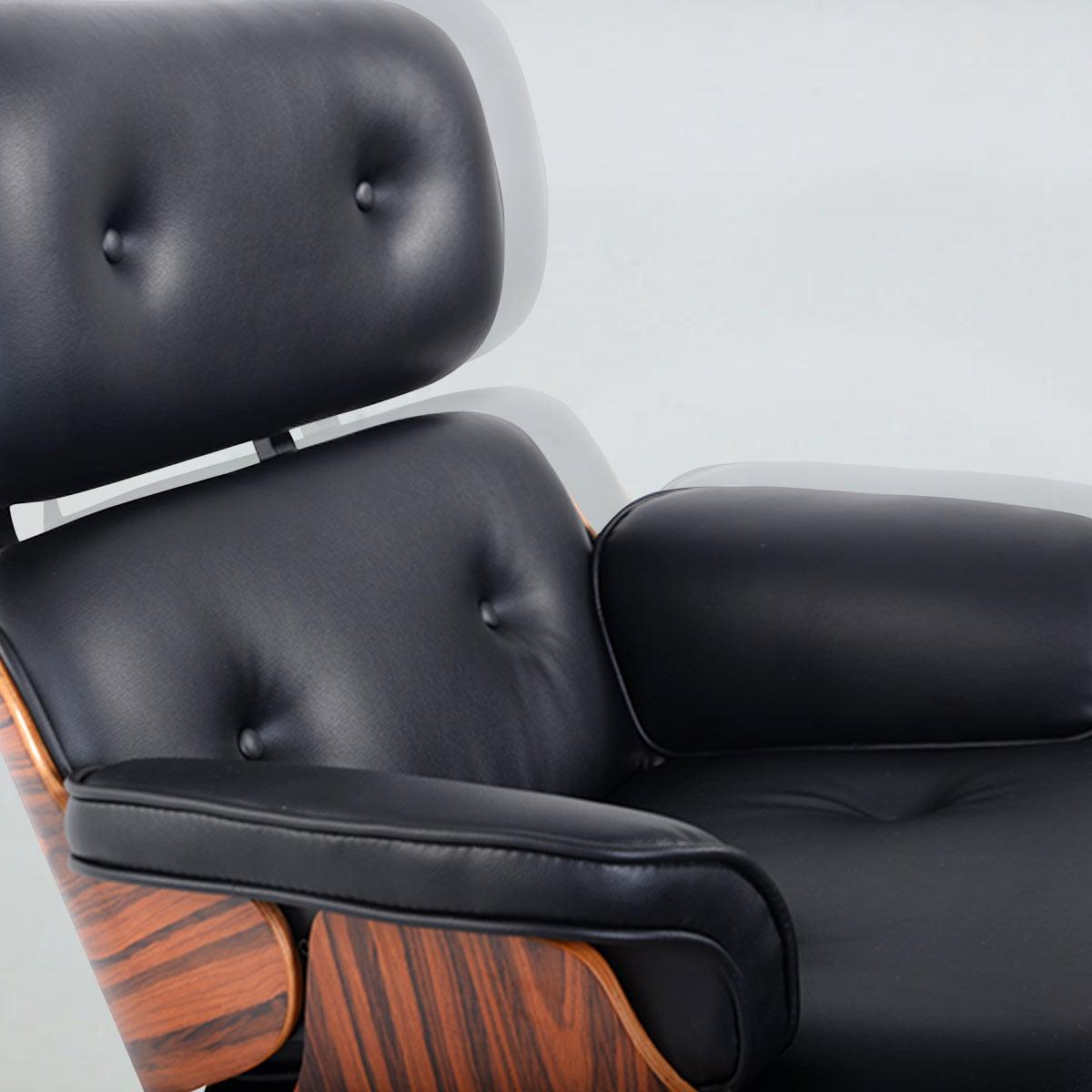 Costway Modern Wood Style Lounge Chair U0026 Ottoman Set Armchair   Walmart.com