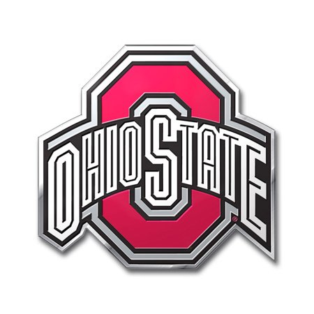 Ohio State Buckeyes Aluminum Auto Emblem Decal Sticker