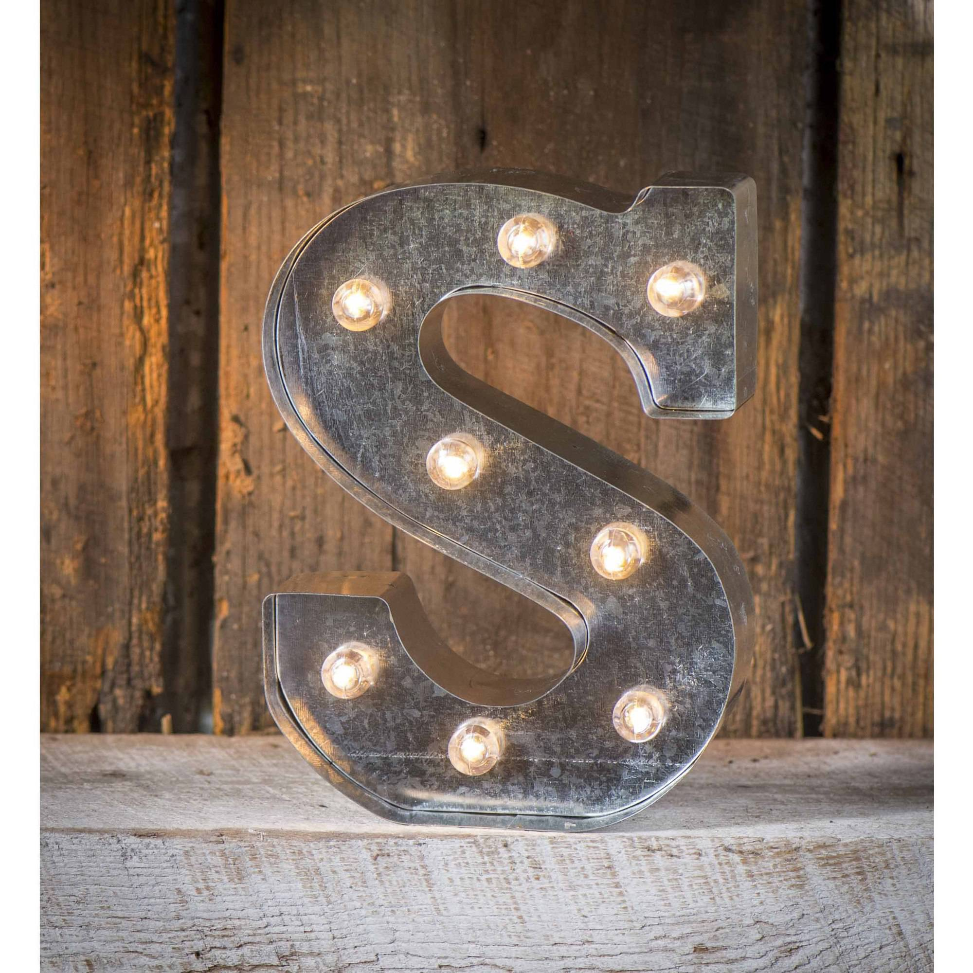 Light-Up Marquee Letter S