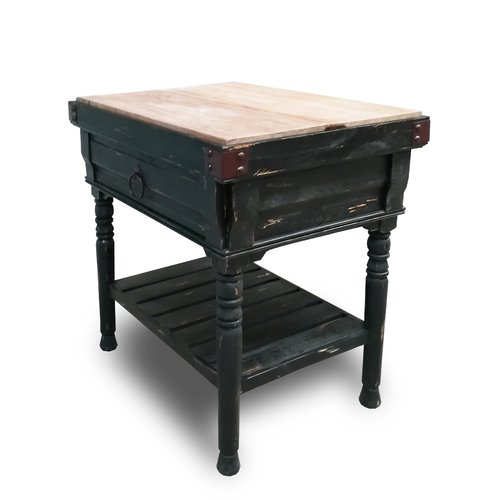 August Grove Brunton Kitchen Island with Butcher Block Top