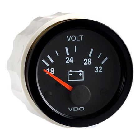 VDO Vision Black 24V Voltmeter Vision 24V Voltmeter