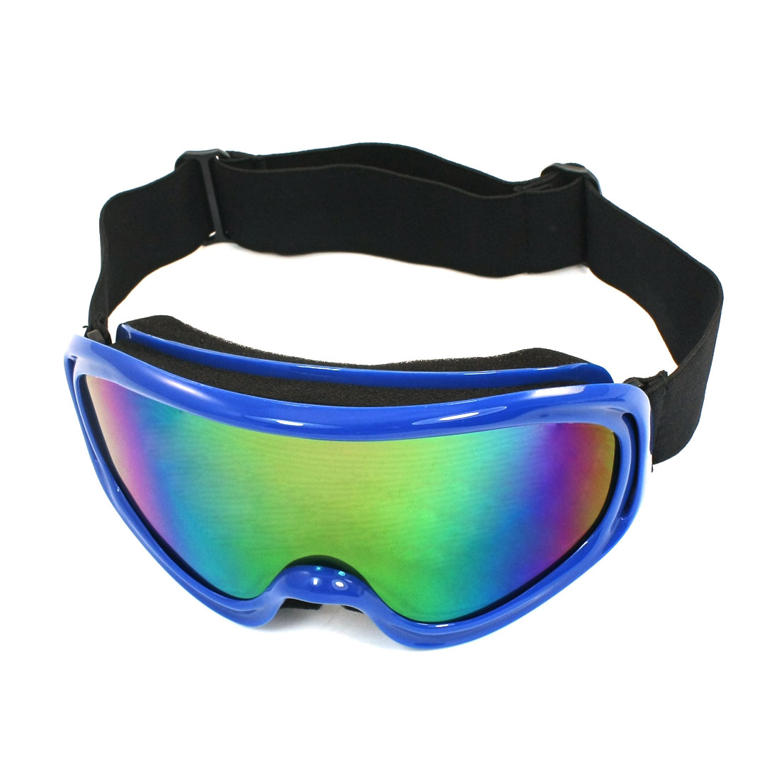 Unique Bargains Blue Frame Coloured Width Lens Eye Wear Ski Goggles for Women Man by
