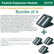 Yealink EXP38 4-PACK Expansion Module, Compatible Yealink T26P and T28P