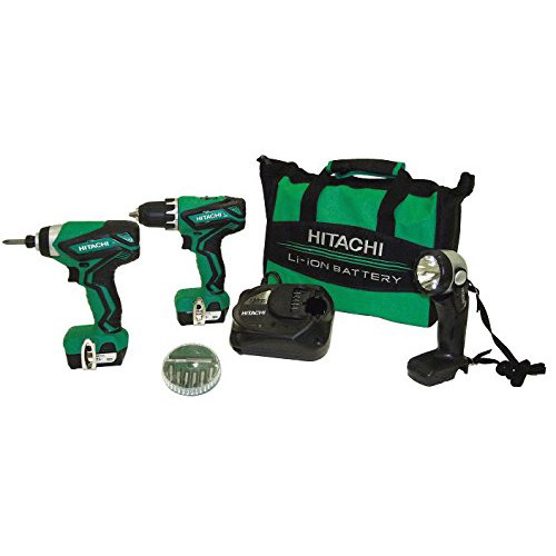 Hitachi Kc10dfl2 12v Peak Lithium Ion Driver Drill & Impact Driver Combo Kit (kc10dfl2)