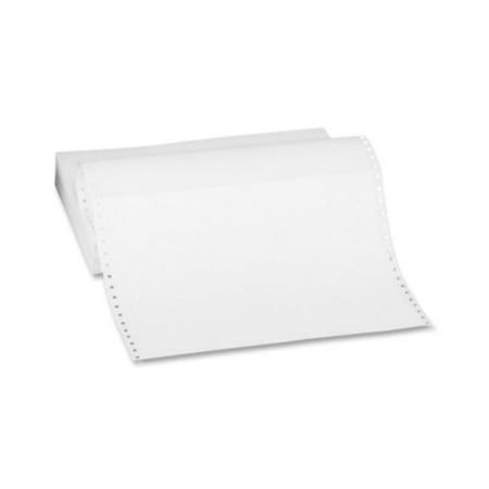Prime-Kote U62 9.5 x 5.5 White 4-Part Carbonless Computer Forms  With Marginal Perforations - image 1 of 1