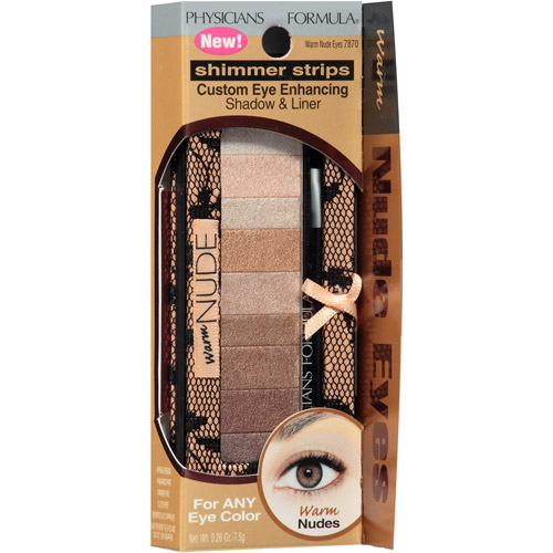 Physicians Formula Shimmer Strips Custom Eye-Enhancing Shadow & Liner, 7870 Warm Nude Eyes, 0.26 oz