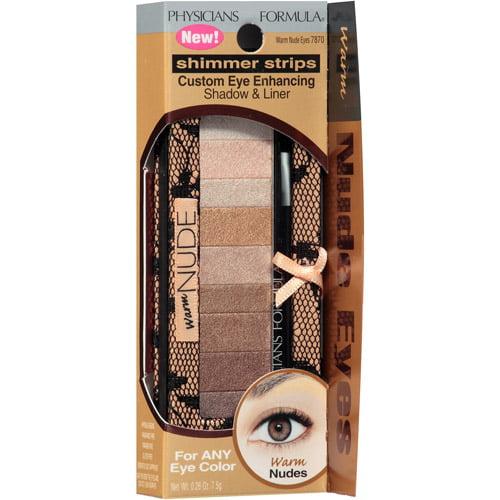 Physicians Formula Shimmer Strips Custom Eye-Enhancing Shadow & Liner, 7870 Warm Nude Eyes, 0.26 oz
