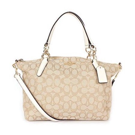 NEW COACH (F27580) SIGNATURE LIGHT KHAKI CHALK MINI KELSEY SATCHEL BAG HANDBAG Sheepskin Womens Handbag