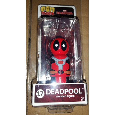 Deadpool Masked Wooden Figure Bif Bang Pow, Deadpool Pin Mate By Pin - Deadpool Mask Replica