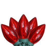 Brite Star 50ct C9 LED String Lights Red - 16' Green Wire