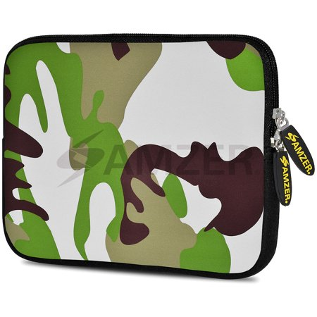 Designer 7.75 Inch Soft Neoprene Sleeve Case Pouch for Alcatel ONETOUCH POP 7 LTE, Acer Iconia One 7, LG G Pad, Amazon Fire 7, Kindle/ Kindle HD 7, RCA 7 Tablet - Army ()