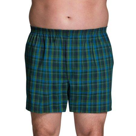 2 Pack Tartan Plaid Boxer - Big Men's Collection Tartan Woven Boxers, 3 Pack