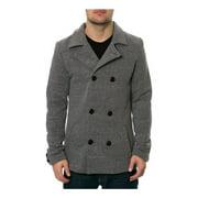 AMBIG Mens The Hugo Peacoat Fleece Jacket
