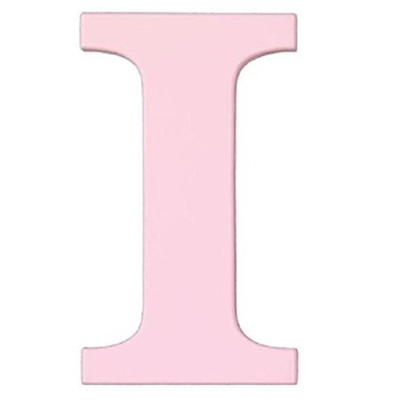 8-Inch Wall Hanging Wood Letter I Pink, 8 inch ready to hang wooden letters (mounting hardware not included). By -