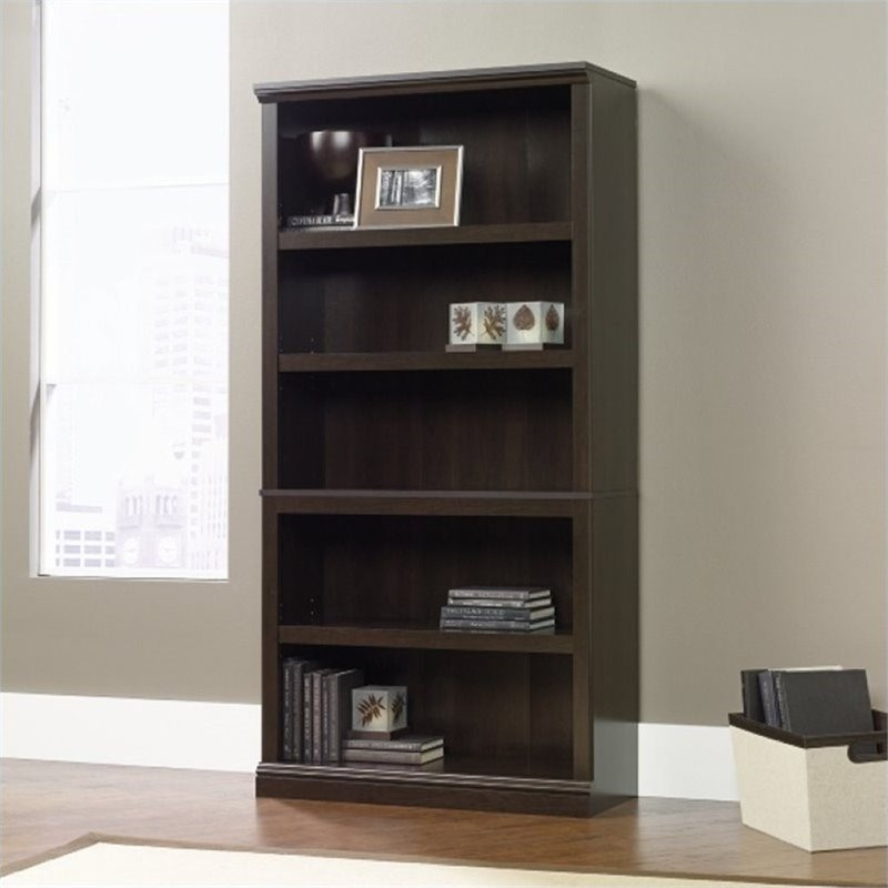 Pemberly Row 5 Shelf Bookcase in Cinnamon Cherry