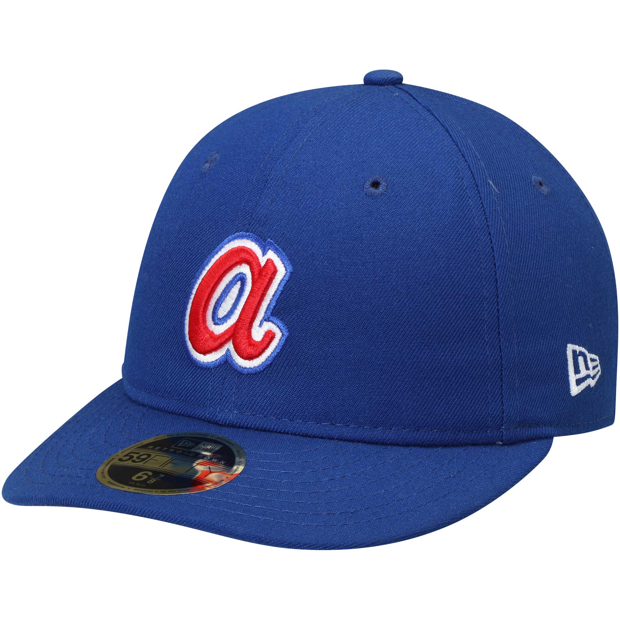 buy popular 1b558 b9275 Atlanta Braves New Era Cooperstown Collection Fan Retro 59FIFTY Fitted Hat  - Royal - Walmart.com