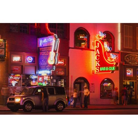 Neon Signs on Broadway Street, Nashville, Tennessee, United States of America, North America Print Wall Art By Richard - Nashville North Halloween