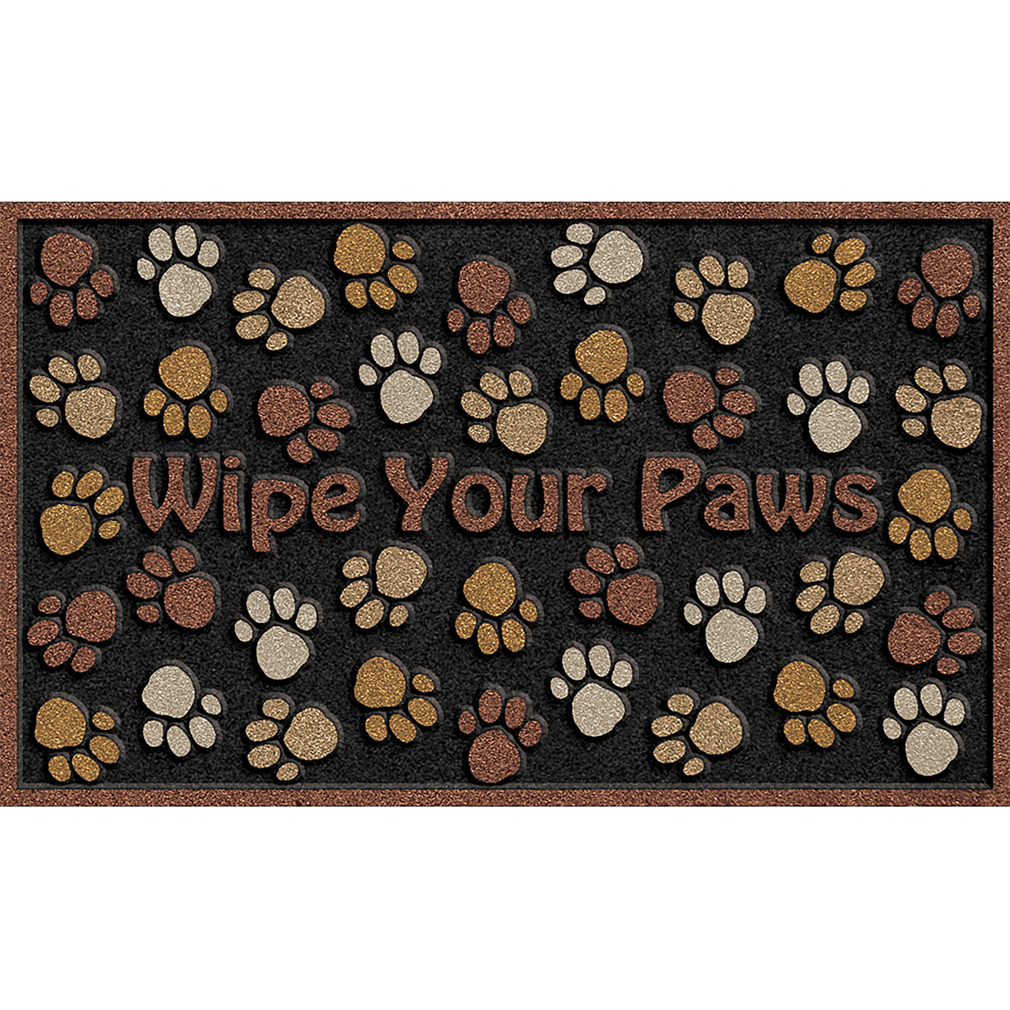 "Wipe Your Paws 18"" x 30"" Brown Door Mat"