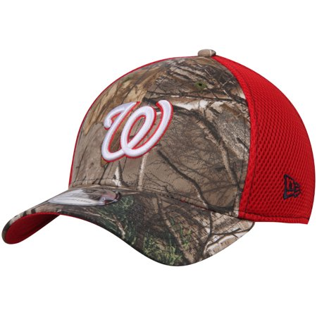 Washington Nationals New Era Neo 39THIRTY Flex Hat - Realtree Camo/Red