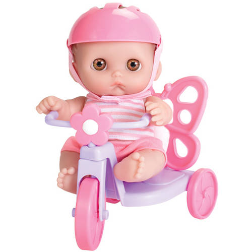 "JC Toys Berenguer 8.5"" Lil' Cutesies Doll with Butterfly Tricycle by JC TOYS"