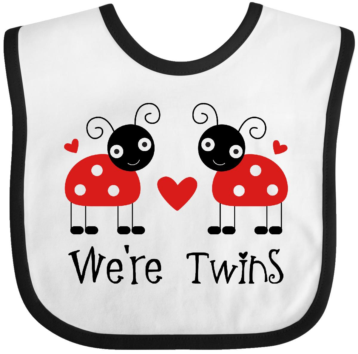 Inktastic We're Twins Ladybug Baby Bib Twin Girls Cute Kids Gift For Animals Hws