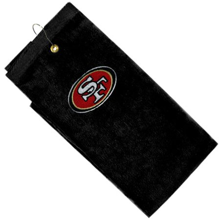 McArthur San Francisco 49ers Black Embroidered Golf Towel - No Size