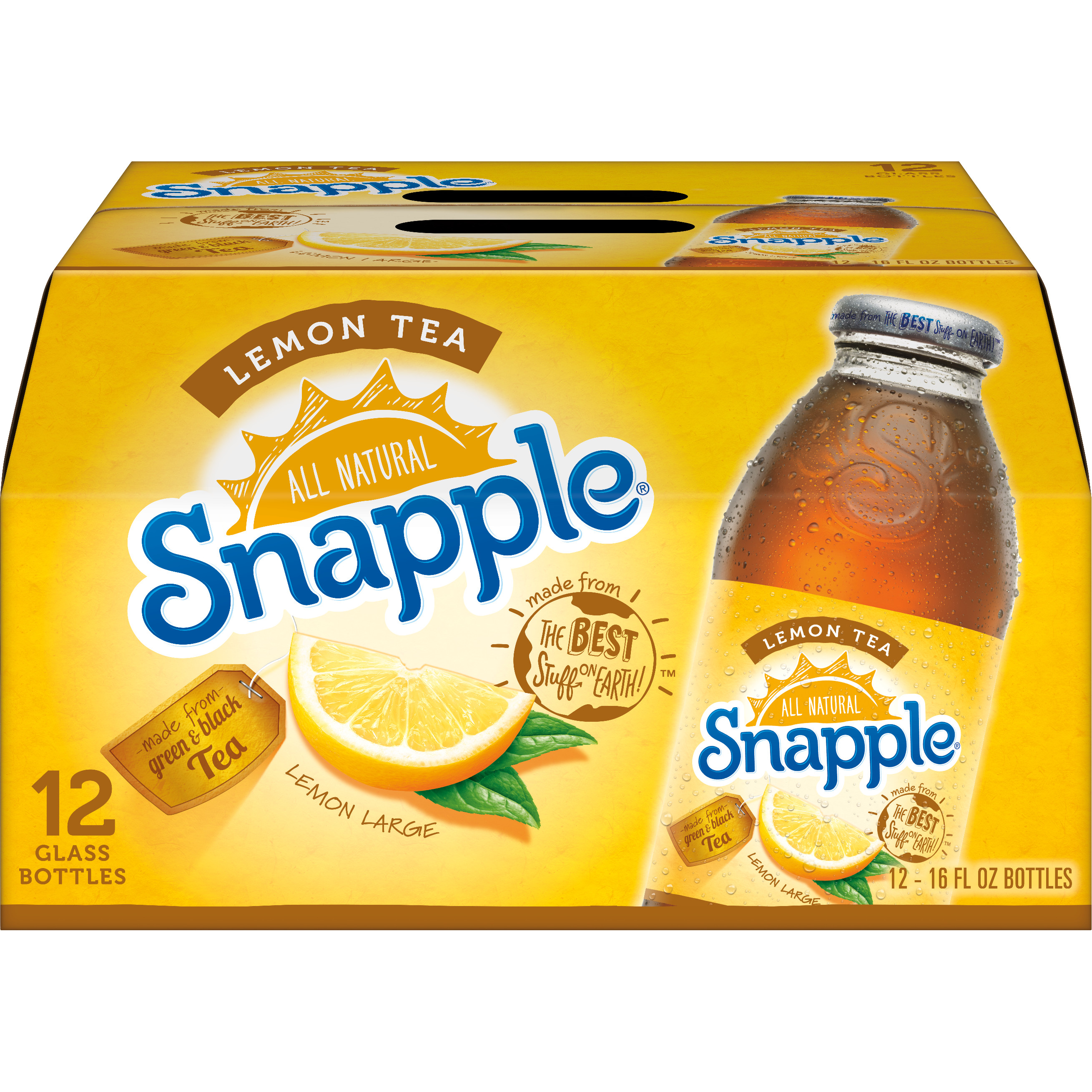 Snapple Lemon Tea, 16 fl oz, 12 pack