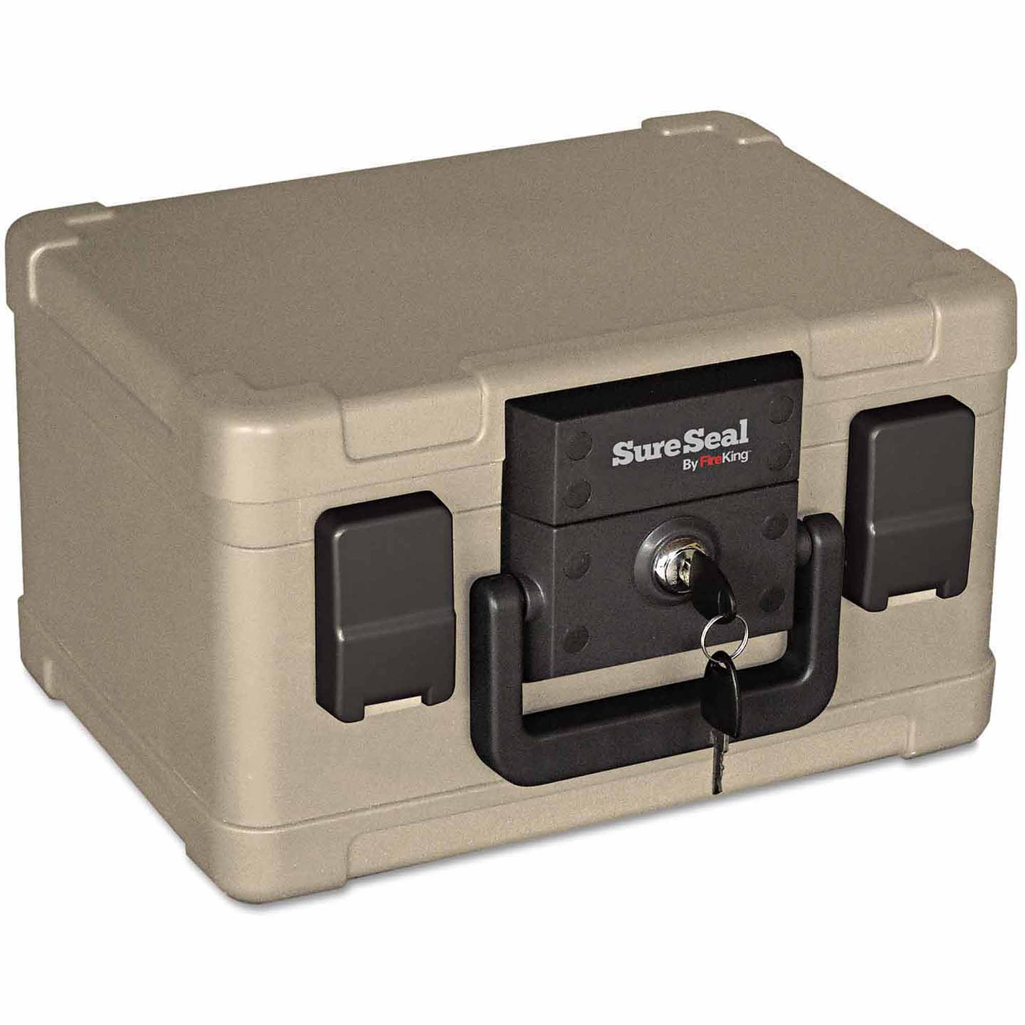 "SureSeal By FireKing Fire and Waterproof Chest, 12-1/5"" x 9-4/5"" x 7-3/10"", Taupe"