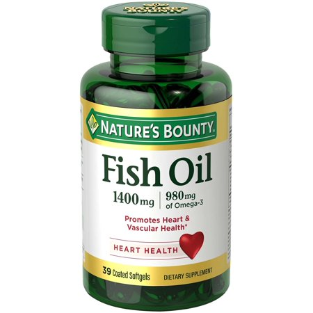 4 Pack Natures Bounty Fish Oil 1400mg Triple Strength One a Day Odorless 39 Each ()