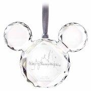Disney Walt Disney World Faceted Flat Mickey Icon Christmas Ornament New w Tag